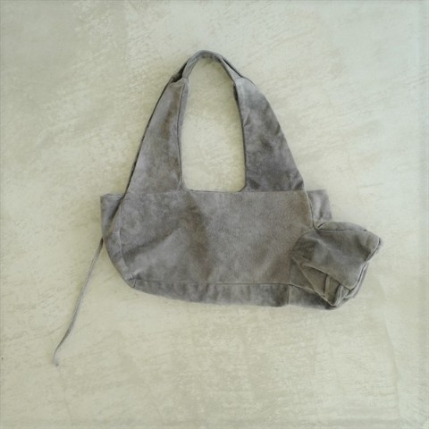 【verthandi】Washable Pigskin LEOPARD BAG - Gray