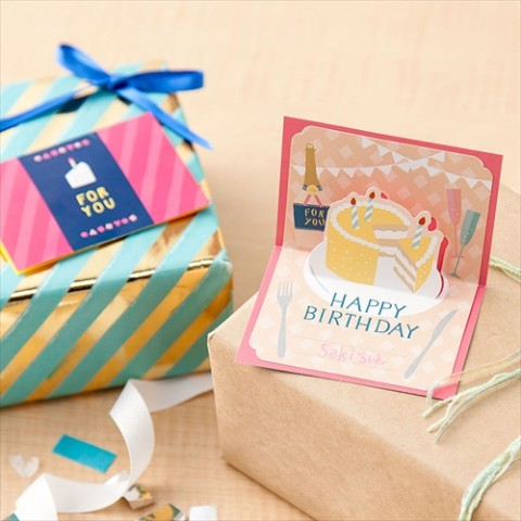 【SURPRISE FACTORY】BIRTHDAY POP UP CARD(PASTEL)