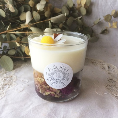 【10mei candle works】botanical glass(サンダルウッドの香り)