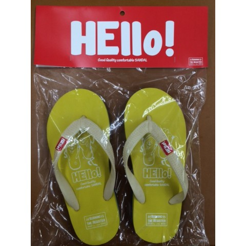 【BURNING THE REGISTER】 HELLO BEACH SANDALS イエロー) L 約26.5cm