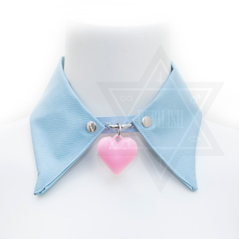 【Devilish】pastel blue collar <空色つけ襟>