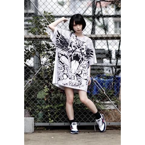 【FABLED NUMBER×acOlaSia】コラボビッグシルエットT(WHITE)