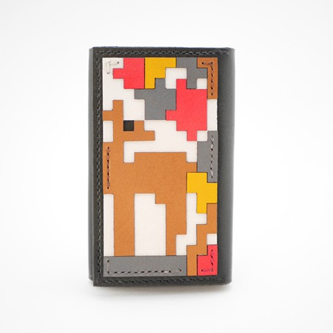 【.C Leather Designs】CARDHOLDER -deer-
