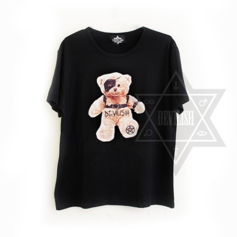 【Devilish】Devilish bear T-shirt<クマT>