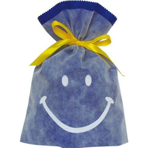 Gift Bag (L) Smile Blue