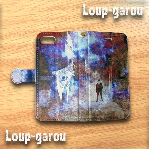 【comopure】【iPhone7】『Loup-garou』手帳型スマホケース