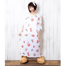 【TRAVAS TOKYO】Strawberry bear relax dress【White】