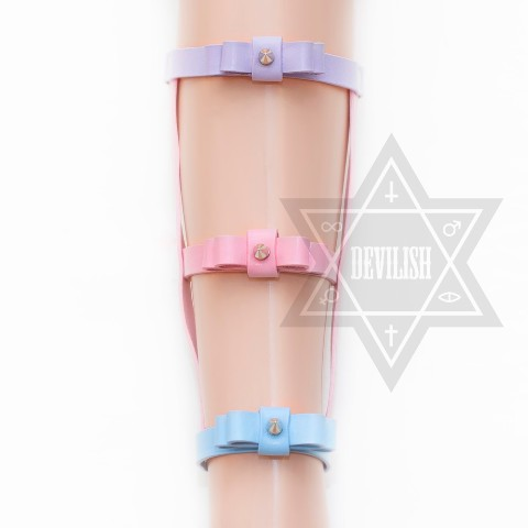 【Devilish】Ribbon Leg harness(Pastel)