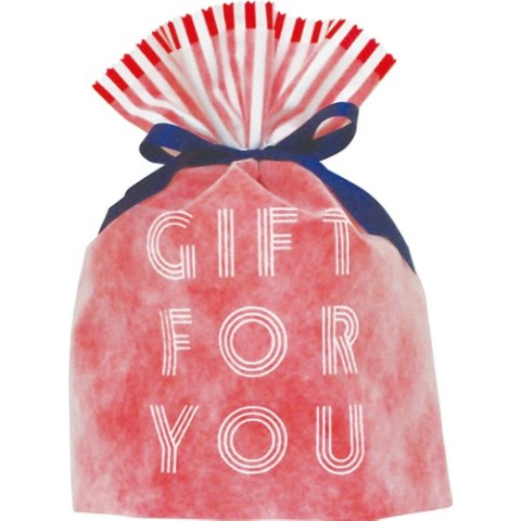 Gift Bag (L) Word Red