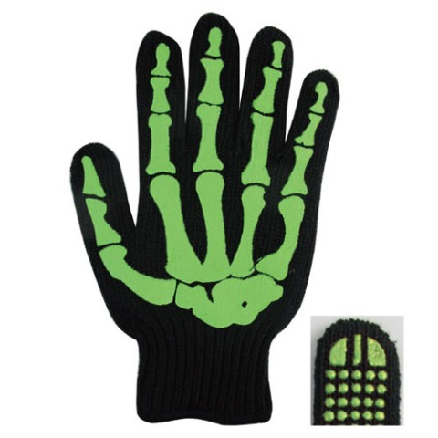 【ガイコツ手袋】WORK GLOVE BONE GREEN/BLACK