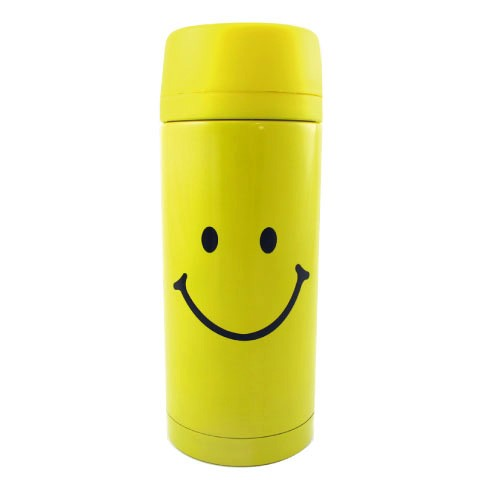 STAINLESS BOTTLE SMILE FACE YELLOW