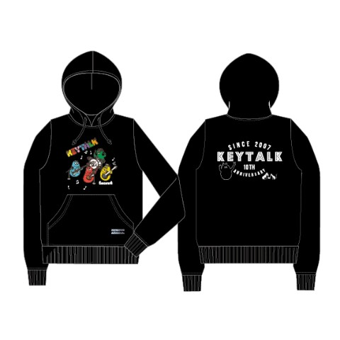 KEYTALK×BARBAPAPA パーカー BK/Lサイズ