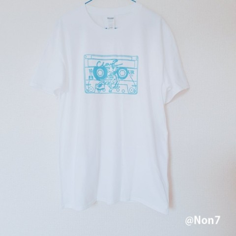 【渡瀬しぃの】ClowZ-CassetteTape T/WHITE(XL)