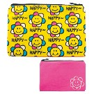 【キャンバス素材】POUCH HAPPY SMILE FLOWER