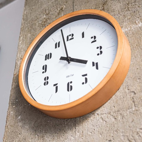 【バウハウス】BAUHAUS Fonts Wall Clock Joschmi Black