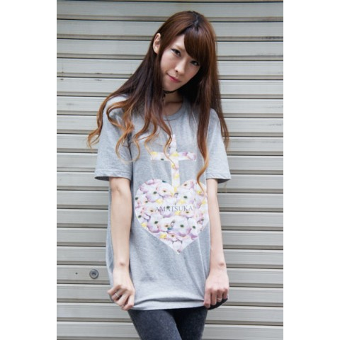 【アマツカミ】 Mice Heart T-shirts (GRAY Mサイズ)
