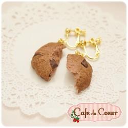 【Cafe du coeur】巧克力餅乾(可可)耳環