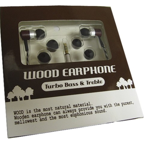 WOOD EARPHONE SILVER