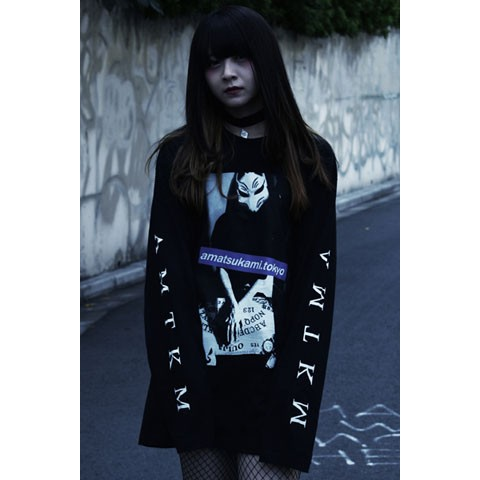 【アマツカミ】狐繰/Ouija Long T-shirts Black M
