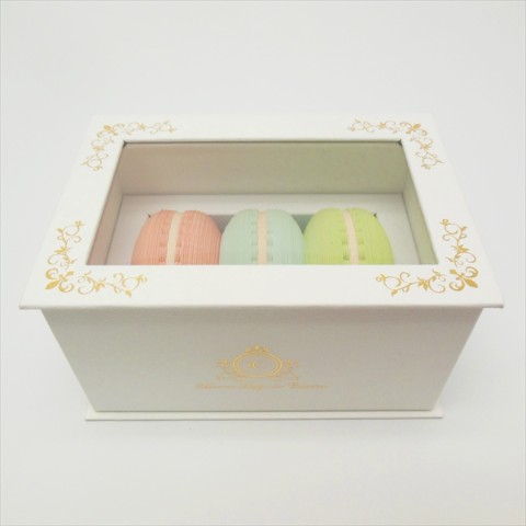 【マカロンふせんBOX】Macaron Sticky note Collection Box コレクションボックス GOLD【CRU-CIAL】