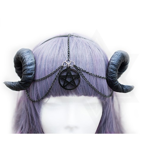 【Devilish】Pentagram horns hairband <ダークファンタジー>