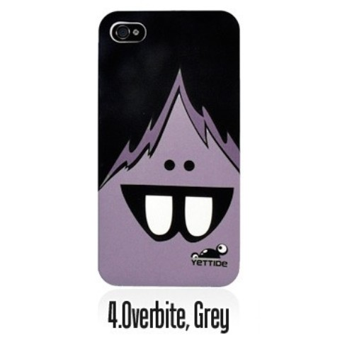 YETTIDE iPhone4S Funny Face Case/Overbite,Grey