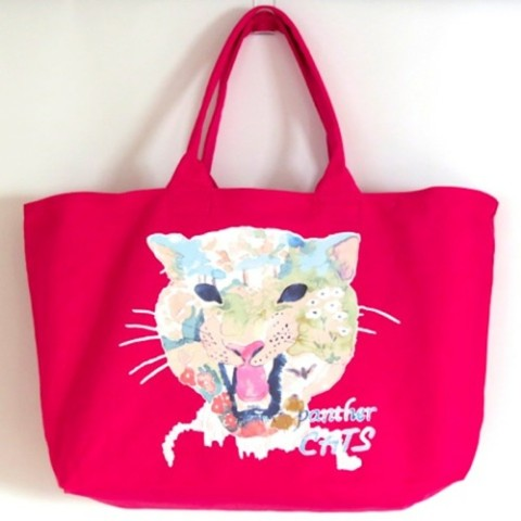 【kanvas】PANTHERCATS WEEKEND TOTE PINK