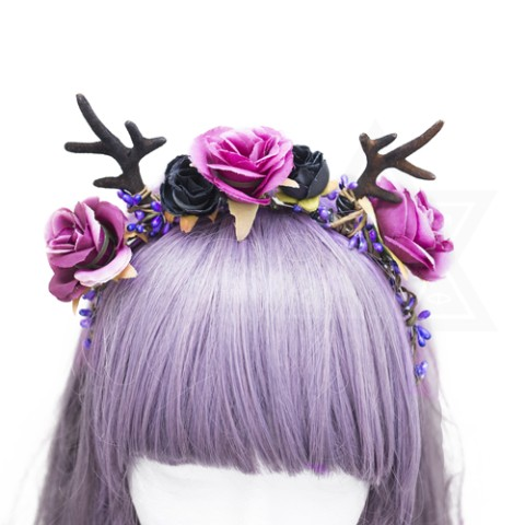 【Devilish】mystery hairband(BLACK)