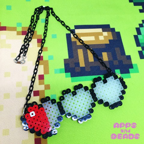 【Apps and Beads】ハートライフネックレス(瀕死)