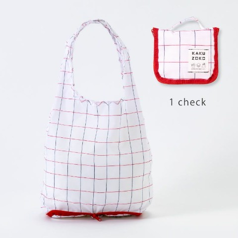 【エコバッグ】KAKUZOKO BAG S(check)