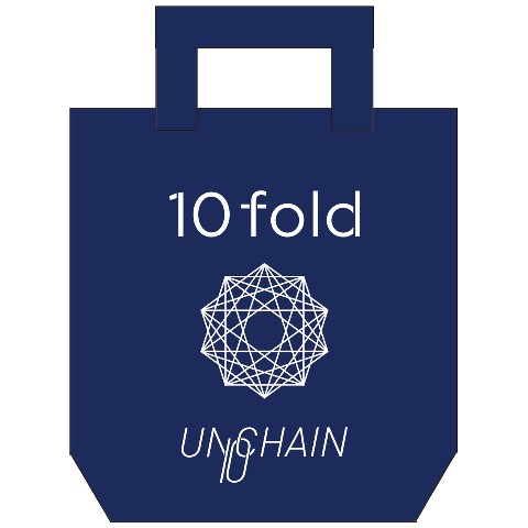 """【UNCHAIN】『UNCHAIN Debut 10th Anniversary """"10fold""""Tour 2015』 トートバッグ"""