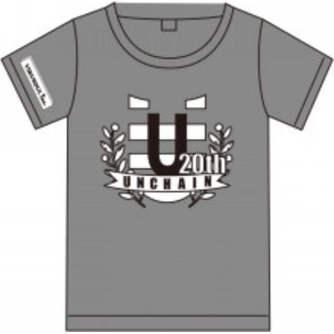 『UNCHAIN 20th Anniv. Goods』Tシャツ (グレーSサイズ)