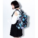【TRAVAS TOKYO】PU Back Pack [Medium] Myriad of bears【Black/Blue】