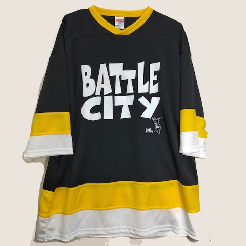 【ショウジョノトモ】BATTLE CITY LOGO hockey_001bk_yellow XL