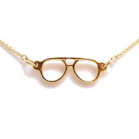 【ジェントルマンなアクセ】Lilou MEGANE NECKLACE teardrop gold