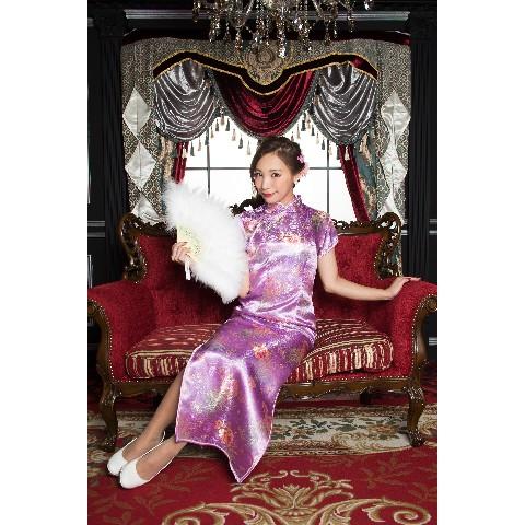 6e7ccca9adcba ロングチャイナ 花 薄紫 S   雑貨通販 ヴィレッジヴァンガード公式通販サイト