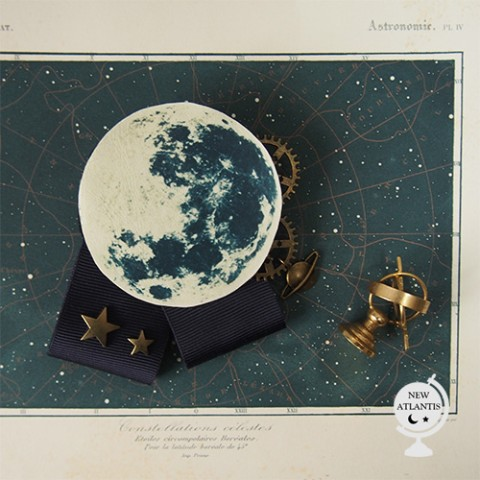【NEW ATLANTIS】MOON BROOCH