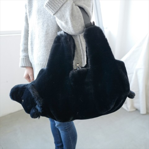 【verthandi】Ecofur BEAR BAG BLACK