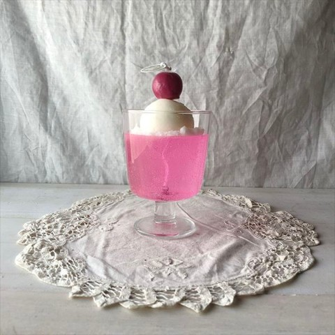 【10mei candle works】cream soda (ピンク)