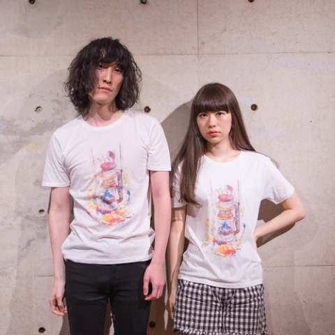 【sacabbage】lamp T-shirts (Lサイズ)