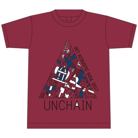 『UNCHAIN presents Get Acoustic Soul 2017 』Tシャツ(バーガンディー Sサイズ)