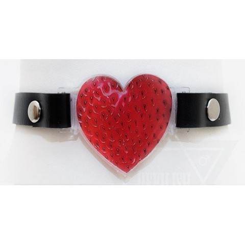 【Devilish】strawberry heart choker(BLACK)
