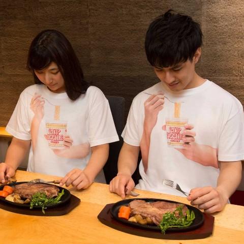 """""""カップヌードル食ってる風Tシャツ""""爆誕"""