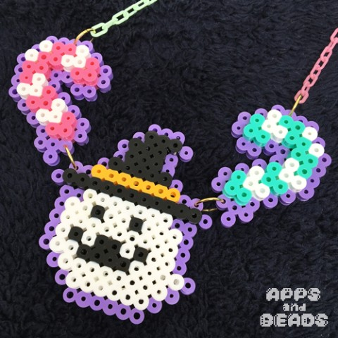 【Apps and Beads】おばけキャンディネックレス