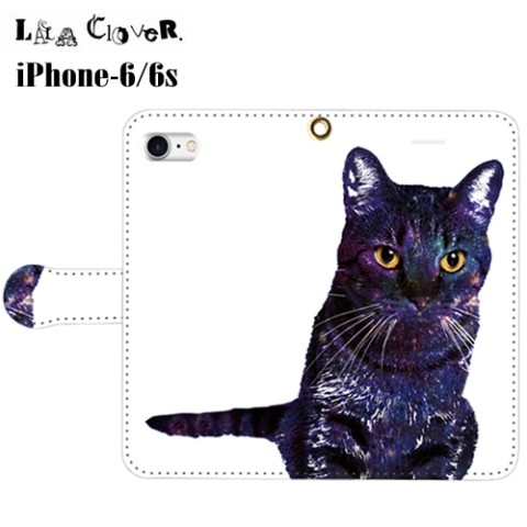 【LALA CloveR.】GALAXY CAT 手帳型 iPhone6/6sケース