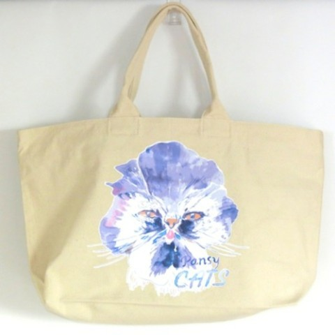 【kanvas】PANSYCATS WEEKEND TOTE NATURAL