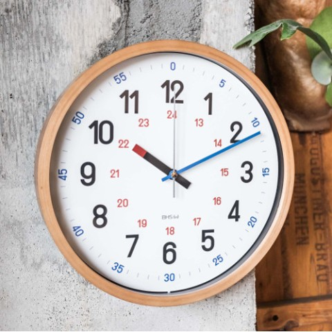 【バウハウス】BAUHAUS Fonts Wall Clock Reross Quadratic Black