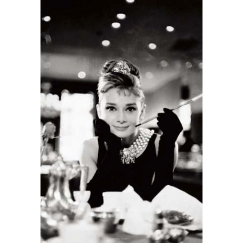【ポスター】AUDREY HEPBURN /BREAKFAST AT TIFFANY'S B&W