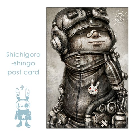 【shichigoro-shingo】usa-badge (post card)
