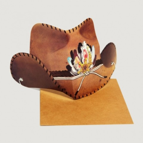 【TMOD】WESTERN HAT【Party Hat Cards】